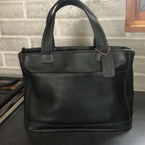 Classic Leather Coach Tote